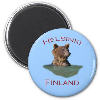 Helsinki, Finland 6 Cm Round Magnet
