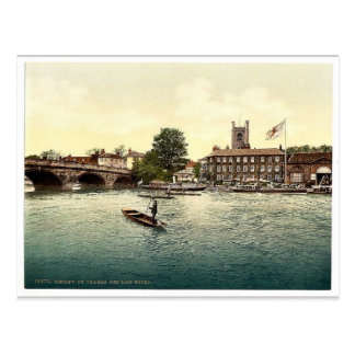 Henley on Thames, Red Lion Hotel, London and subur Postcard