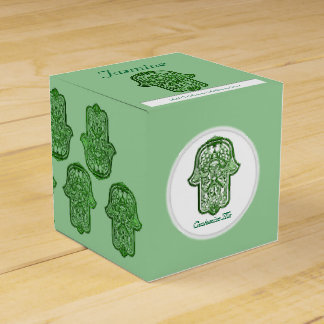 Henna Hand of Hamsa (Green) Favour Boxes