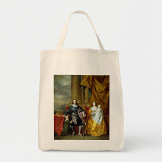 Henrietta Maria and Charles I by Van Dyck Grocery Tote Bag