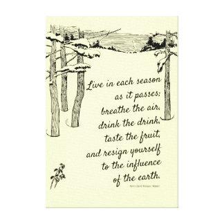 "Henry David Thoreau, ""Live in Each Season"" Canvas Prints"