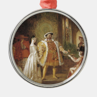 Henry VIII and Anne Boleyn Silver-Colored Round Decoration