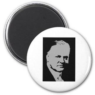 Herbert Hoover silhouette 6 Cm Round Magnet