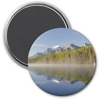 Herbert Lake at Icefields Parkway Alberta Canada 7.5 Cm Round Magnet