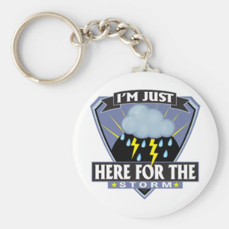 Here for the Storm Basic Round Button Key Ring