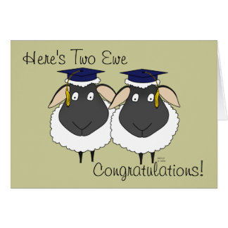 Here's Two Ewe Congratulations! Greeting Card