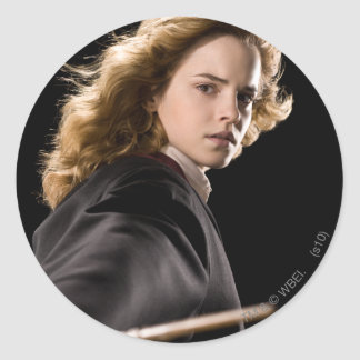 Hermione Granger Ready For Action Round Sticker