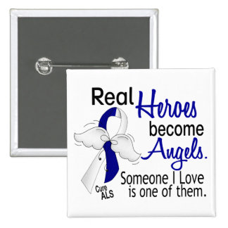 Heroes Become Angels ALS 15 Cm Square Badge