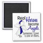 Heroes Become Angels ALS Square Magnet