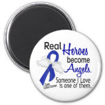 Heroes Become Angels Colon Cancer 6 Cm Round Magnet