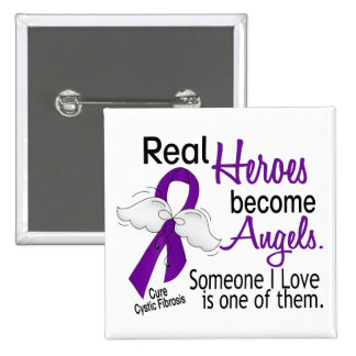 Heroes Become Angels Cystic Fibrosis 15 Cm Square Badge