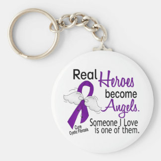 Heroes Become Angels Cystic Fibrosis Basic Round Button Key Ring