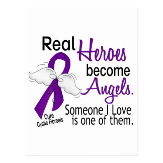 Heroes Become Angels Cystic Fibrosis Postcard
