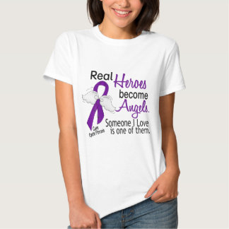 Heroes Become Angels Cystic Fibrosis Tee Shirt