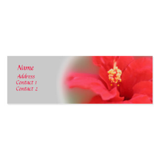 Hibiscus Bloom Profile Card Pack Of Skinny Business Cards