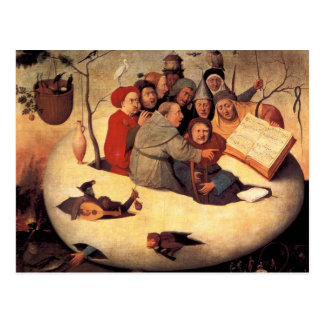 Hieronymus Bosch- The Concert in the Egg Postcard