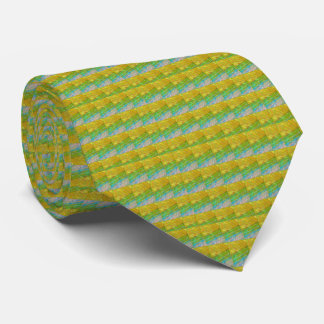 HIGH Energy Art Graphics Waves Pattern Smile Happy Tie