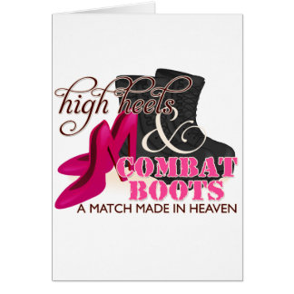 High Heels and Combat Boots (Black) Greeting Card