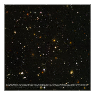 High-Res Hubble Ultra Deep Field Poster (Original)