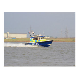 High Speed Police Boat Postcard