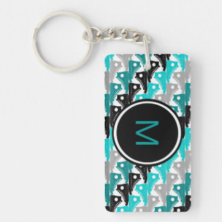 High Tops Teal-n-Black Shoes Double-Sided Rectangular Acrylic Key Ring