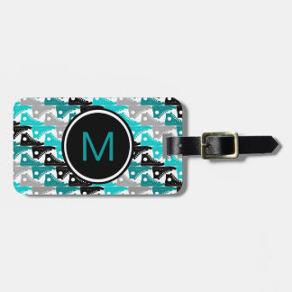 High Tops Teal-n-Black Shoes Tags For Luggage