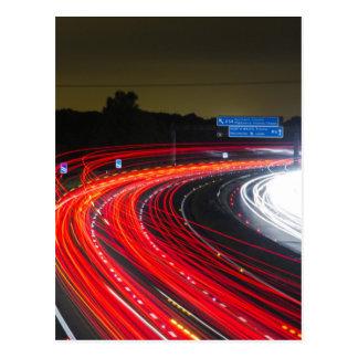 Highway traffic lights postcard