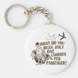 Hilarious Airline Joke Shirt Basic Round Button Key Ring