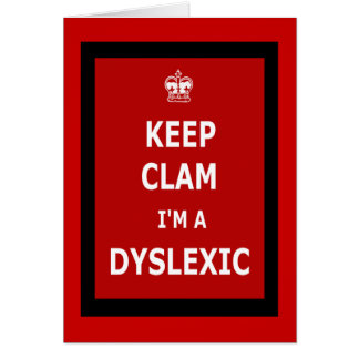 Hilarious dyslexic greeting card