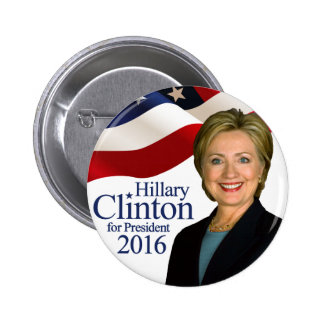 Hillary Clinton for President 2016 Button Pin 2""
