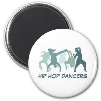 Hip Hop Dancers Illustration 6 Cm Round Magnet