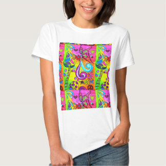 hippie flower power tshirt