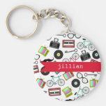 Hipster Personalised Keychain