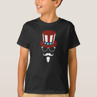 Hipster Uncle Sam T-shirts