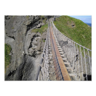 Historic Carrick-a-rede rope bridge, Northern Photograph
