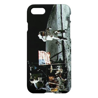 Historical man on the moon iPhone 7 case