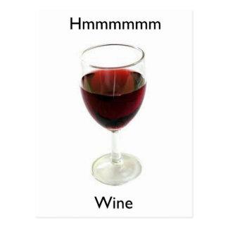 Hmmmmm Wine Postcard