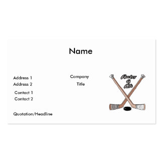 hockey for life pack of standard business cards