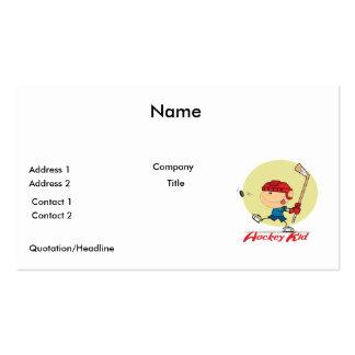 hockey kid ice hockey player cartoon design pack of standard business cards