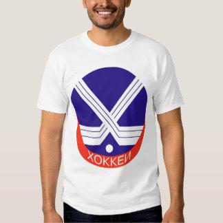 Hockey Logo in Russian Tee Shirts