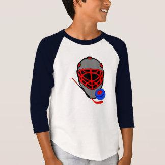 Hockey Mask Stick and Puck - Hockey Shirts Kids