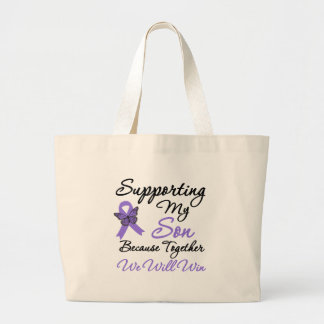 Hodgkin's Disease Supporting Son Jumbo Tote Bag
