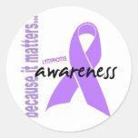 Hodgkins Lymphoma Awareness Round Sticker