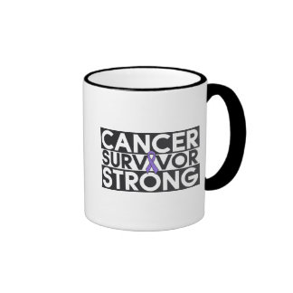 Hodgkins Lymphoma Cancer Survivor Strong Ringer Mug
