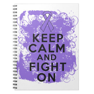 Hodgkins Lymphoma Keep Calm and Fight On Spiral Note Books