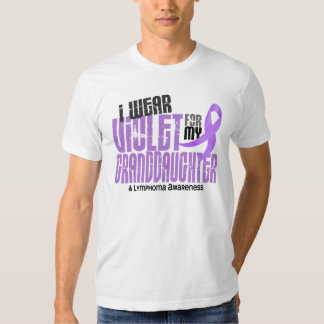 Hodgkins Lymphoma Violet For My Granddaughter T-shirts