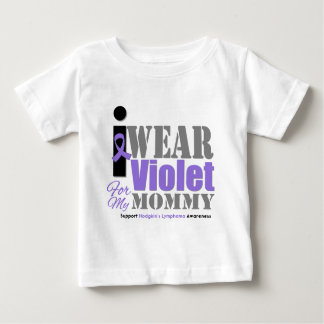 Hodgkins Violet Ribbon Mommy Shirts