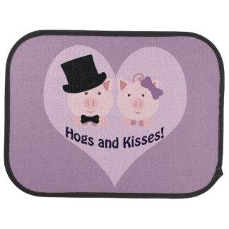 Hogs and kisses! car mat