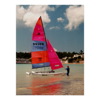 Holding the Hobie steady Poster