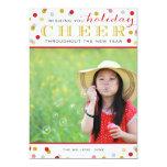 Holiday Cheer Modern Christmas Photo Card 13 Cm X 18 Cm Invitation Card